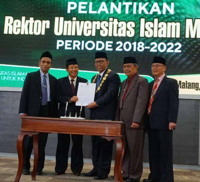 Resmi Dilantik, Prof. Dr. H. Masykuri M.Si Kembali Pimpin Unisma