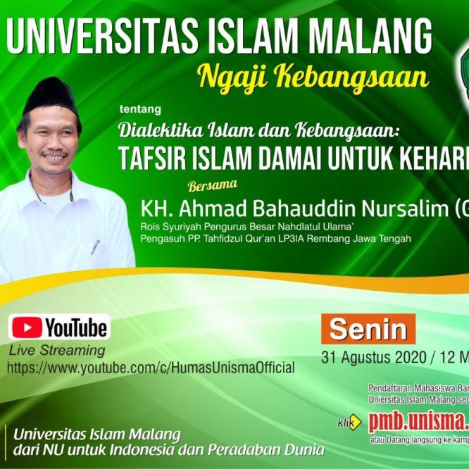Ngaji Kebangsaan UNISMA Malang Bersama Gus Baha'