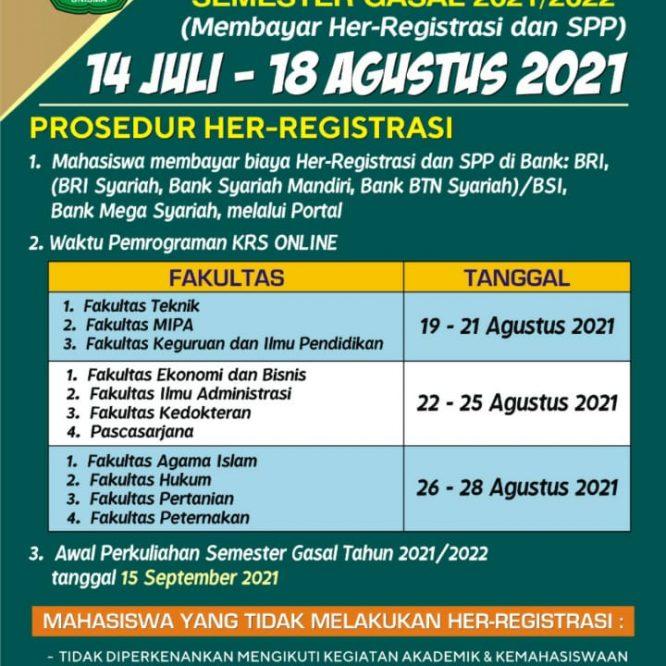 HER REGISTRASI SEMESTER GASAL 2021/2022